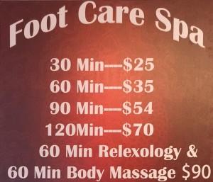 The Foot Care Spa Reception Area